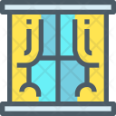 Window Curtains Glass Icon