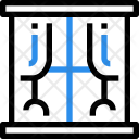 Window Glass Curtains Icon