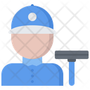 Window Washer Man Icon