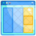 Layout Square Grid Collage Icon