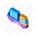 Glass Transportation Truck Icon
