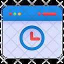 Windows Time Window Webpage Icon