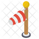Wind Direction Windsock Flagpole Icon