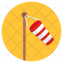 Meteorology Wind Speed Flag Windbag Icon