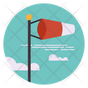 Windsock Pole Air Sock Wind Direction Icon