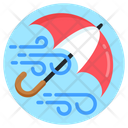 Windstorm Wind Protection Umbrella Icon
