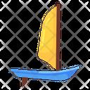 Canoe Boating Windsurfing Icon