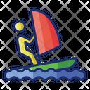 Windsurfing Surfing Wave Icon