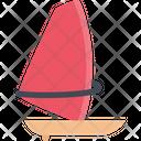 Windsurfing Sea Ocean Icon