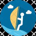 Windsurfing Sport Water Icon
