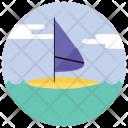 Windsurfing Sail Boat Icon