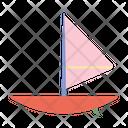 Sky Windsurfing Board Icon
