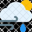 Windy Rain Day Icon
