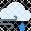 Windy Rain Weather Icon