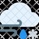 Windy Sleet Weather Icon