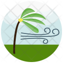 Strong Wind Palm Icon