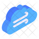 Windy Cloud Windy Weather Forecast Icon