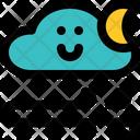Windy Night Night Air Night Icon