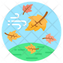 Windy Weather Windstorm Forest Storm Icon