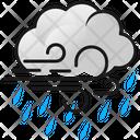 Windy Weather Windy Cloud Rain Icon