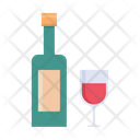 Glass Party Bottle Icon