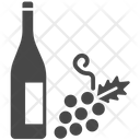 Wine Wine Bottle Grapes Icon