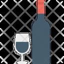 Wine Glass Champagne Bottle Icon