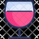 Glass Wine Romantic Icon