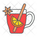 Mulled Wine Glass Icon