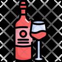 Wine Bottle Glasses Icon