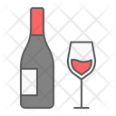Wine Glass Bottle Icon