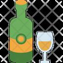 Wine Bottle Glass Icon
