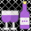 Wine New Year Celebration Icon