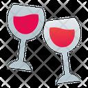 Glasses Wine Date Icon