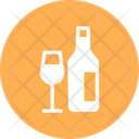Wine Glass Wine Bottle Icon