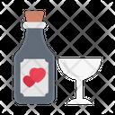 Wine Alcohol Wedding Icon