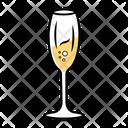 Champagne Sparkling Tulip Icon
