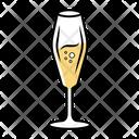 Sparkling Champagne Flute Icon