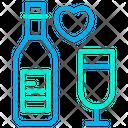Wine Bottel Love Heart Icon