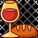 Wine And Bread Icon