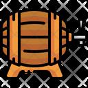 Barrel Beer Keg Alcoholic Drinks Icon