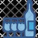 Wine Bottle Wine Glass Icon