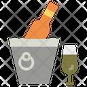 Wine Bucket Champagne Bucket Wine Cooler Icon
