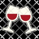 Wine Cheering Wine Glass Wine Icon