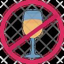 Wine Restriction No Wine No Alcohol Icon