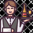 Waiter Wine Catering Icon