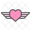 Wings Heart Fly Icon