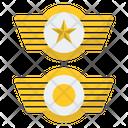 Wings Commander Badge Badge Star Badge Icon