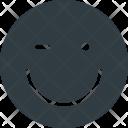 Wink Emoji Face Icon