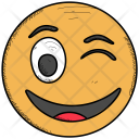 Wink Excited Laughing Icon